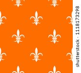 Lily Heraldic Emblem Pattern...