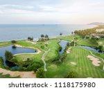 green of the golf course  built ... | Shutterstock . vector #1118175980