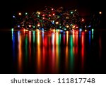 Christmas Lights On A Tree Wit...