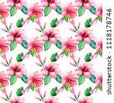bright green herbal tropical...   Shutterstock . vector #1118178746