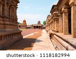 pillared cloister and shrines... | Shutterstock . vector #1118182994