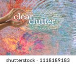 clear the chaotic clutter from... | Shutterstock . vector #1118189183