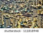 abstract grunge view of buildings in Monte Carlo, Monaco - stock photo