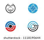 business techno logo vector... | Shutterstock .eps vector #1118190644