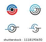 business techno logo vector... | Shutterstock .eps vector #1118190650