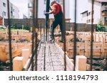 building construction worker... | Shutterstock . vector #1118194793