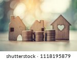 stacking dollars coins with a...   Shutterstock . vector #1118195879