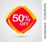 50  off discount sticker....   Shutterstock .eps vector #1118196143