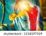 bone research concept bone... | Shutterstock . vector #1118197319