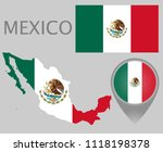colorful flag  map pointer and... | Shutterstock .eps vector #1118198378