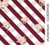 pattern  watercolor flowers ... | Shutterstock . vector #1118200430