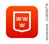 coat of arms of sweden icon... | Shutterstock . vector #1118206778
