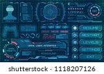 hud user interface  gui ... | Shutterstock .eps vector #1118207126
