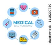 medical background with icons   ... | Shutterstock .eps vector #1118207780
