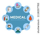 medical background with icons   ... | Shutterstock .eps vector #1118207783