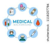medical background with icons   ... | Shutterstock .eps vector #1118207786