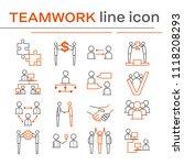 set of teamwork icons. | Shutterstock . vector #1118208293