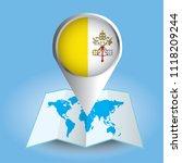 world map centered on europe... | Shutterstock .eps vector #1118209244
