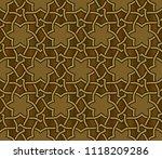 islamic pattern  golden   black ... | Shutterstock .eps vector #1118209286