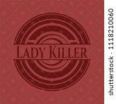 lady killer red emblem. vintage. | Shutterstock .eps vector #1118210060
