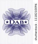 blue money style rosette with... | Shutterstock .eps vector #1118210096