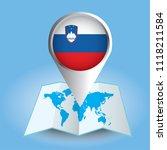 world map centered on europe... | Shutterstock .eps vector #1118211584