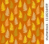 fern frond herbs  tropical... | Shutterstock .eps vector #1118216459