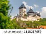 karlstejn castle  founded 1348... | Shutterstock . vector #1118217659