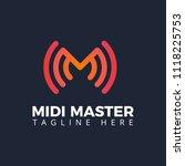 letter m logo sound wave... | Shutterstock .eps vector #1118225753