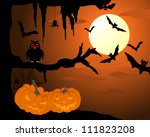 happy halloween theme greeting... | Shutterstock .eps vector #111823208