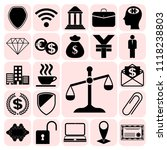 set of 22 business icons ... | Shutterstock .eps vector #1118238803