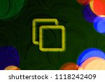neon yellow clone icon on the... | Shutterstock . vector #1118242409
