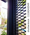 squares. steel wire mesh | Shutterstock . vector #1118243549