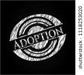 adoption chalkboard emblem... | Shutterstock .eps vector #1118253020