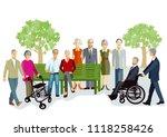 elderly people and seniors | Shutterstock .eps vector #1118258426