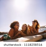 multiracial group of girls... | Shutterstock . vector #1118258516