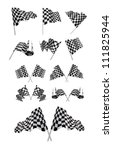 checkered flags set... | Shutterstock . vector #111825944