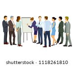 training course in the office | Shutterstock .eps vector #1118261810