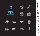 auto icons set. bus stop and... | Shutterstock .eps vector #1118262878