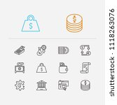 finance icons set. online...
