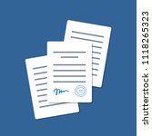 documents with signature and... | Shutterstock .eps vector #1118265323