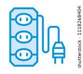 socket outlet adapter  | Shutterstock .eps vector #1118268404