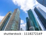 modern office buildings in... | Shutterstock . vector #1118272169