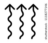 wavy up arrows | Shutterstock .eps vector #1118277146