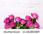 frame  from pink  roses ... | Shutterstock . vector #1118280389