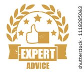 stamp of expert advice word... | Shutterstock .eps vector #1118285063