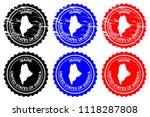 maine   rubber stamp   vector ... | Shutterstock .eps vector #1118287808