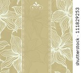 floral themed doodle invitation ... | Shutterstock . vector #111829253