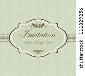 floral themed doodle invitation ... | Shutterstock . vector #111829256