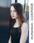close up outdoor portrait of a... | Shutterstock . vector #1118293028